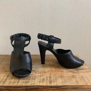 See By Chloe black Italian leather heels peep toe